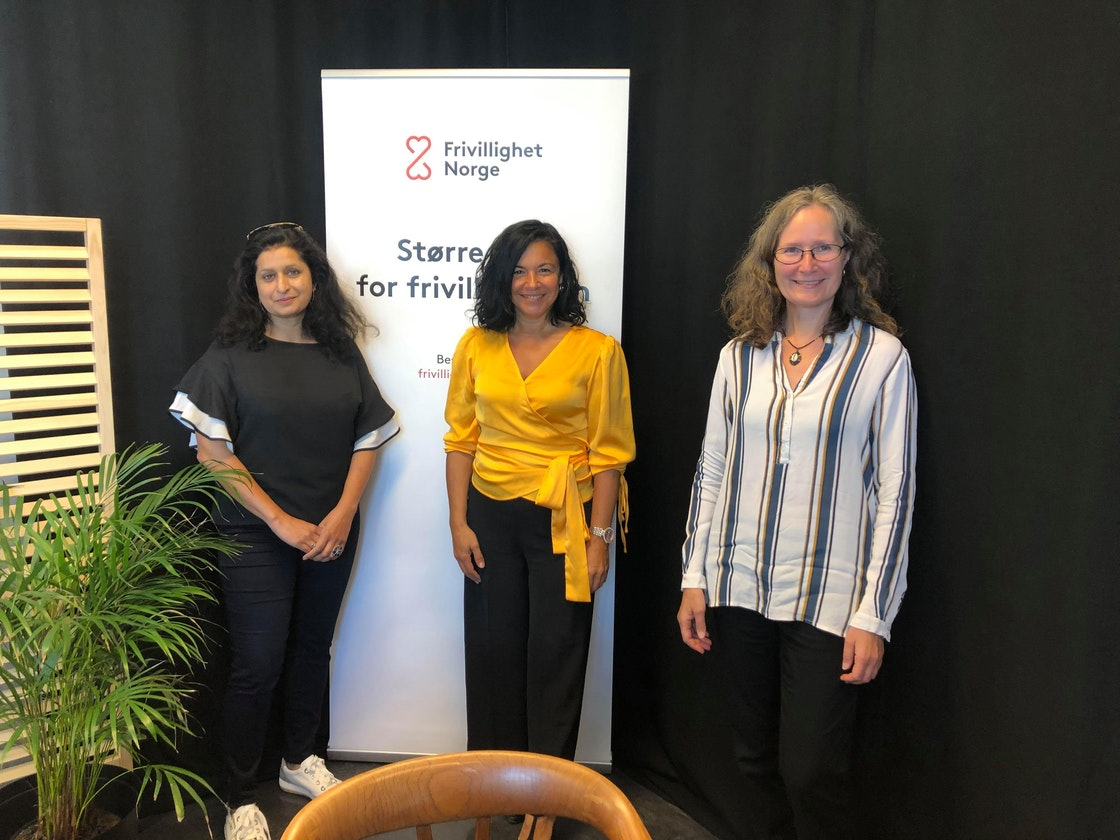 Innlederne: Anita Rathore, OMOD, Onur Safak Johansen, LO og Ida Marie Holmin, Frivillighet Norge.