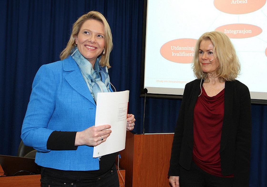 Sylvi Listhaug og Grete Brochmann