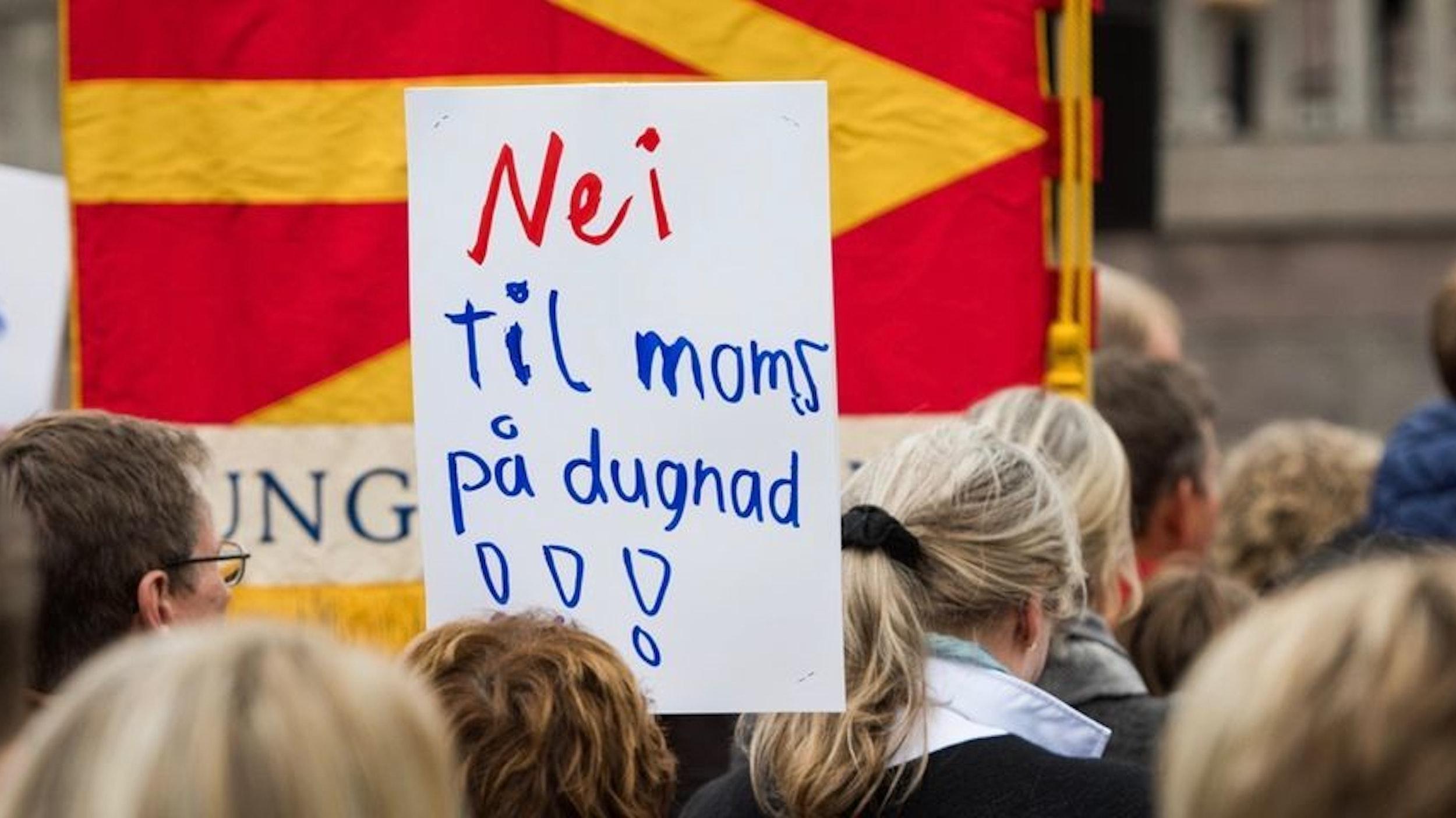 Demonstrasjon mot moms på dugnad