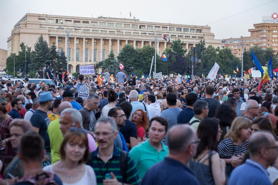 Protester i Bucuresti, Romania