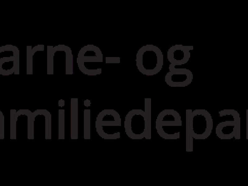 Barne- og familiedepartementets logo