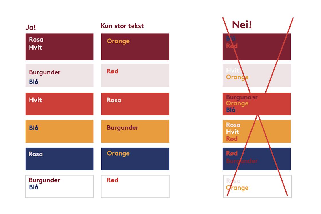 Guide for optimal bruk av farger på tekst