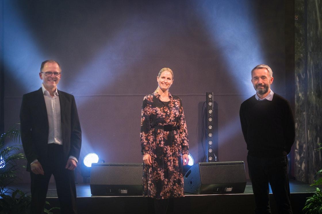 Generalsekretær og prosjektleder i Frivillighet Norge, og André Støylen fra Sparebankstiftelsen DNB