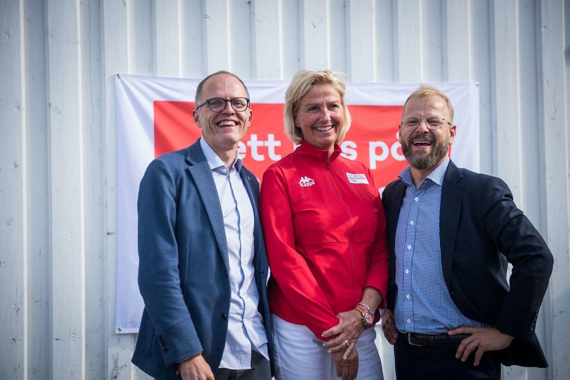Stian Slotterøy Johnsen, Berit Kjøll, og Heikki Eidsvoll Holmås