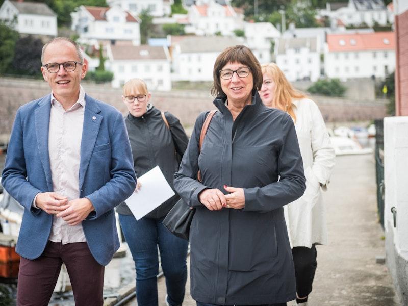 Stian Slotterøy Johnsen og Sigrun Vågeng under Arendalsuka 2019
