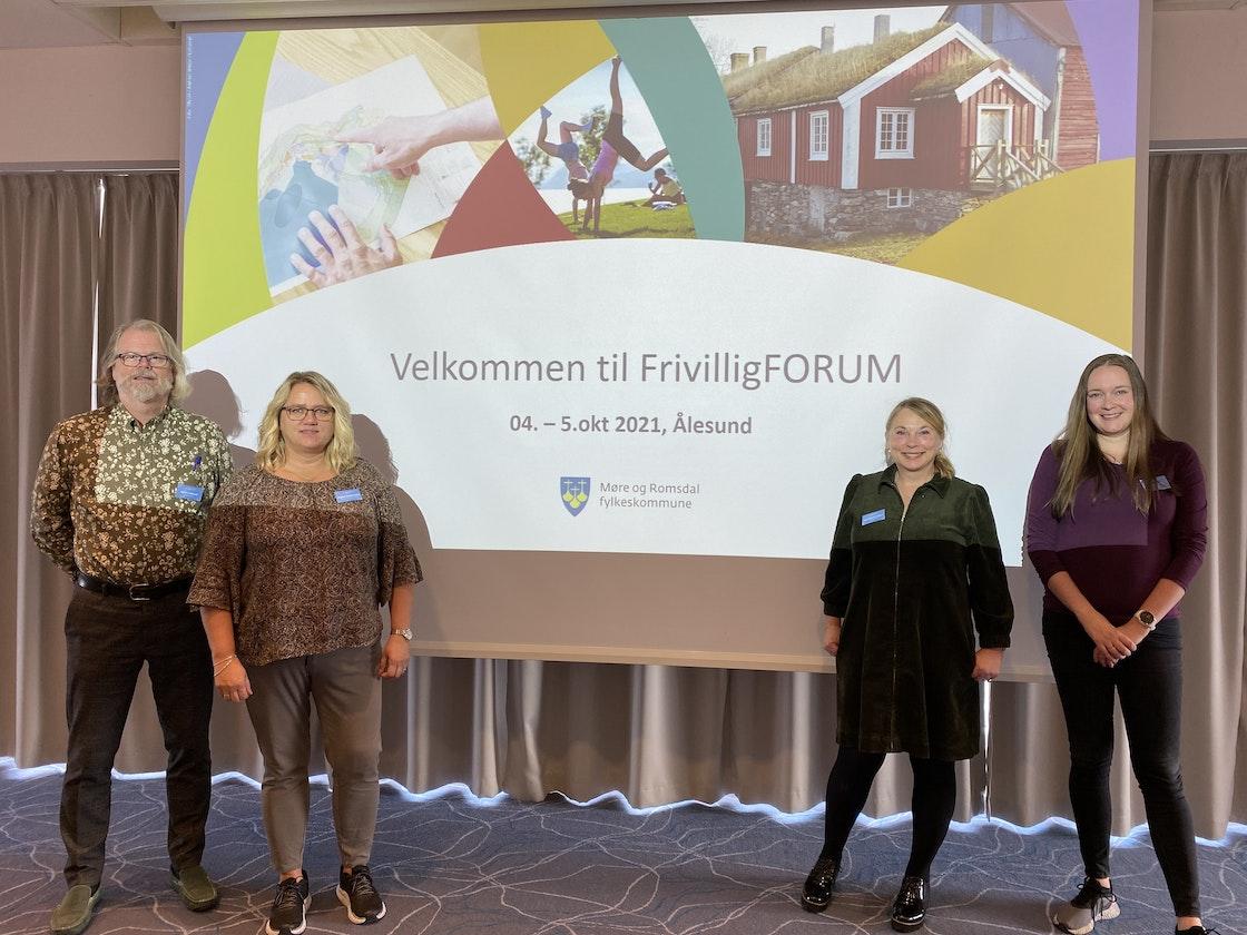 Fra venstre: Bjørn Lindstad, Rigmor Hustad Holen, Anna Lianes, Aase Marie Olafsen.