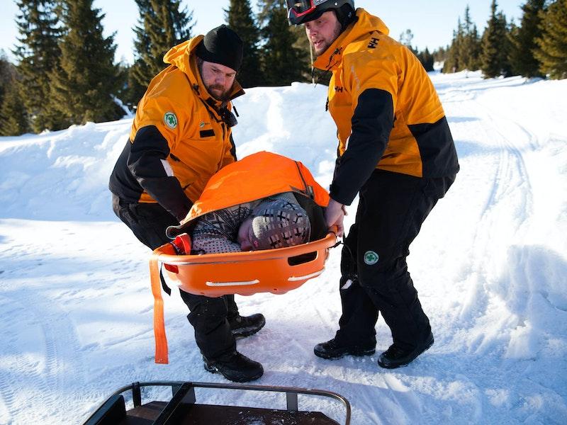 Redningsøvelse med Norsk Folkehjelp Moelv og omegn under påska 2018