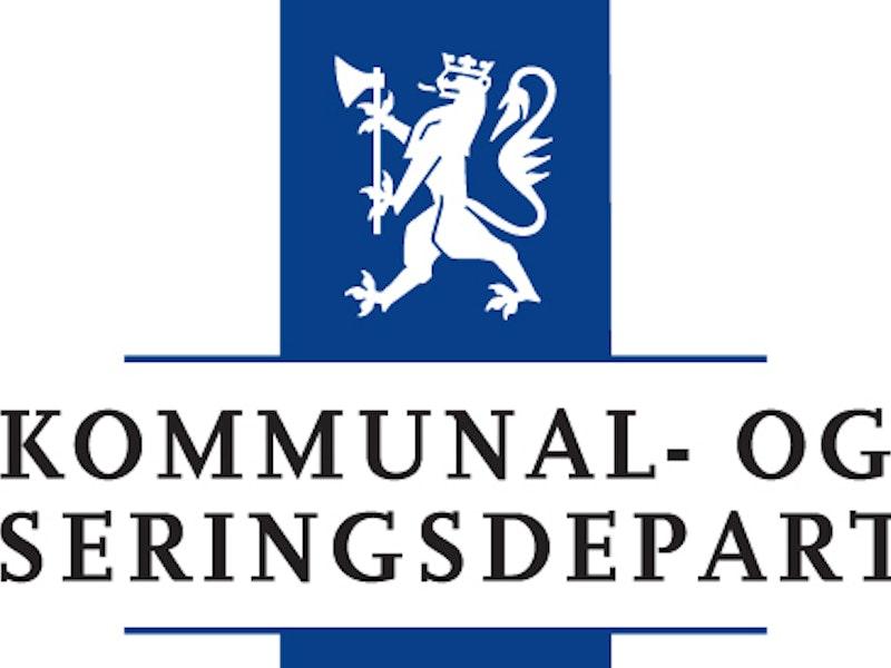 Kommunal- og moderniseringsdepartementets logo