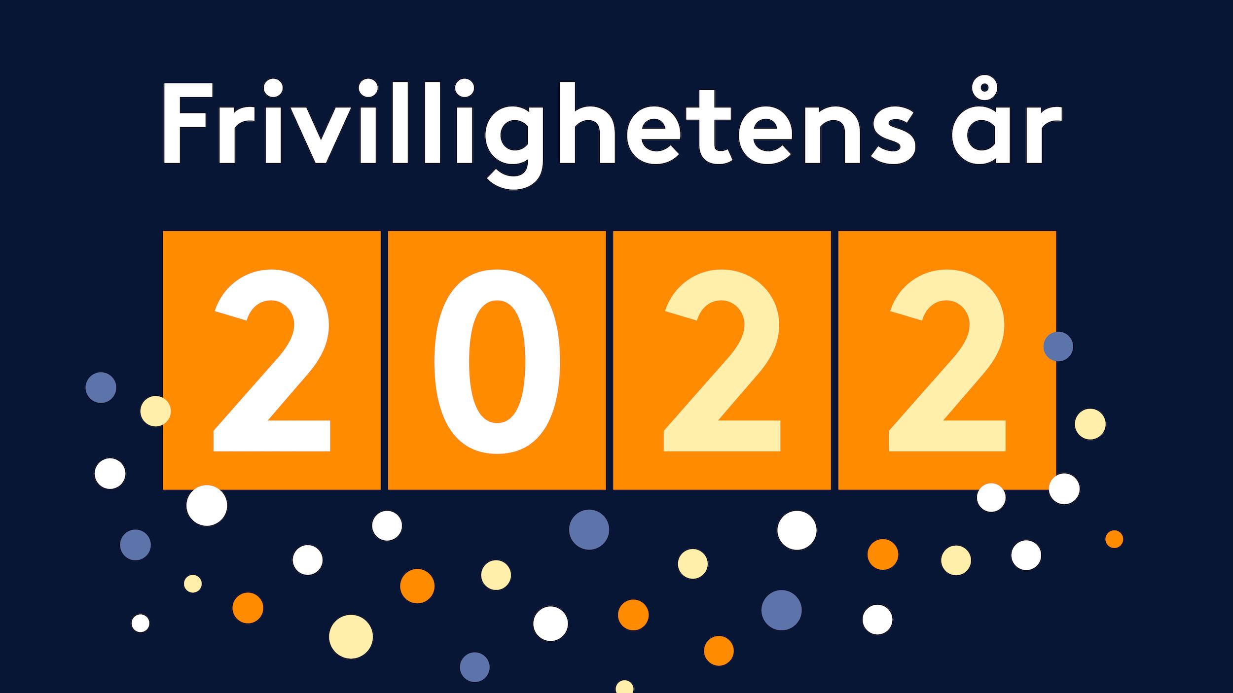 Logo til Frivillighetens år 2022