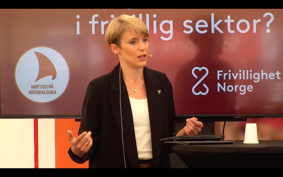 Stortingsrepresentant for SV Kari E. Kaski deltok på debatten (Foto: Skjermdump).