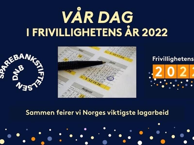 Kalender og logoen til sparebankstiftelsen og frivillighetens år
