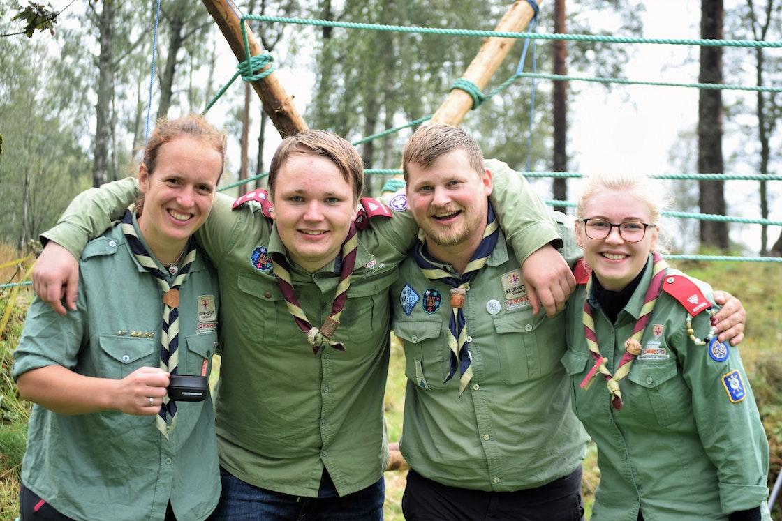 Frivillige fra KFUK-KFUM speiderne på Friluftslivets dag på Sognsvann den 1. september 2019.