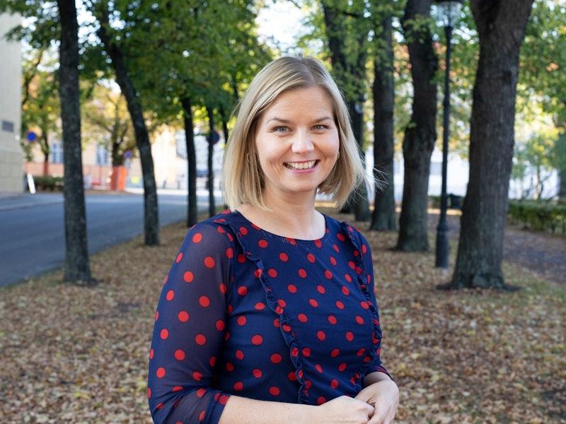 Foto av kunnskaps- og integreringsminister Guri Melby (Foto: Marte Garmann)