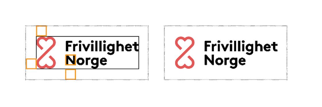 Frivillighet Logo med forklaring av bruk