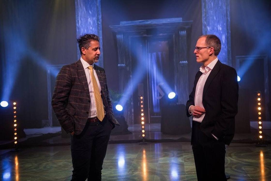 Abid Q. Raja og Stian Slotterøy Johnsen